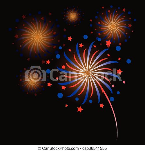 colorful fireworks - csp36541555