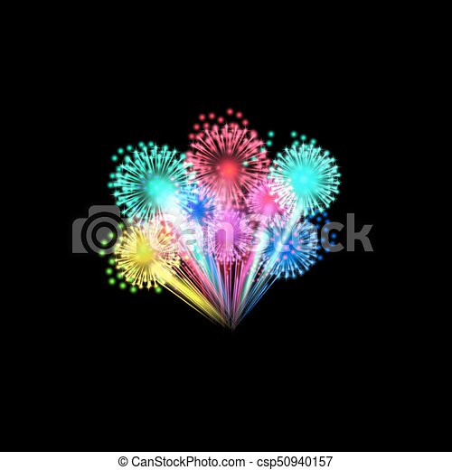 Colorful fireworks - csp50940157