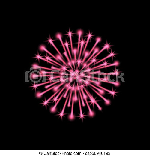 Colorful fireworks - csp50940193