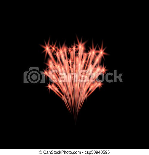 Colorful fireworks - csp50940595