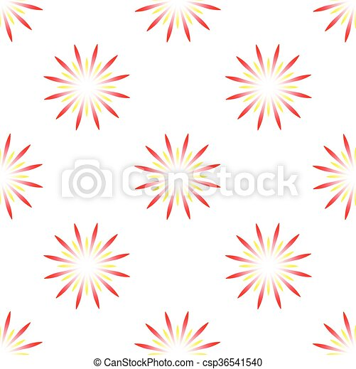 colorful fireworks - csp36541540
