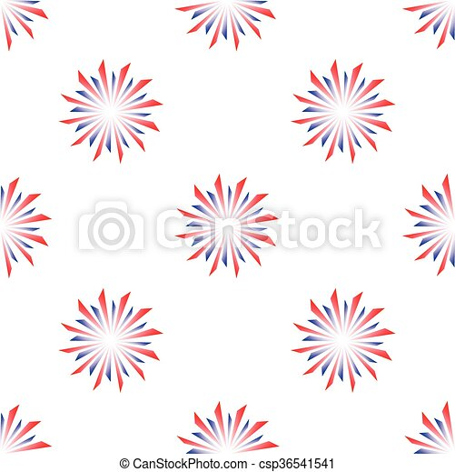 colorful fireworks - csp36541541
