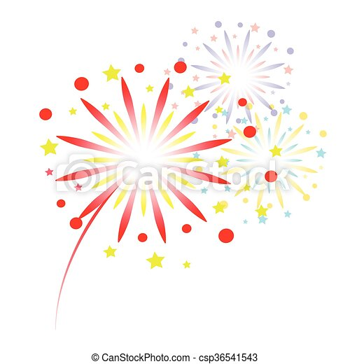 colorful fireworks - csp36541543