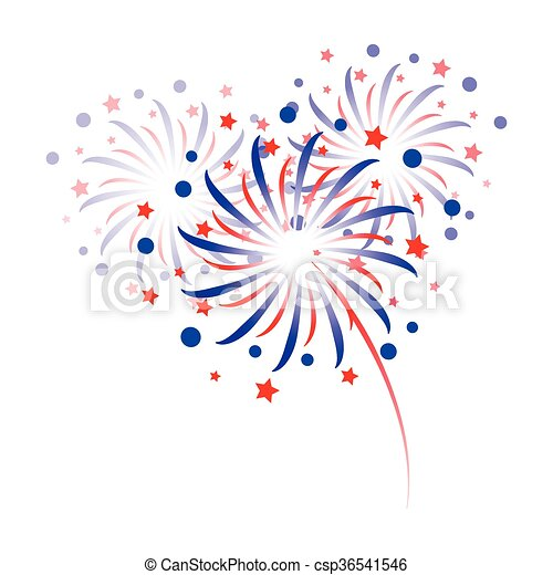 colorful fireworks - csp36541546