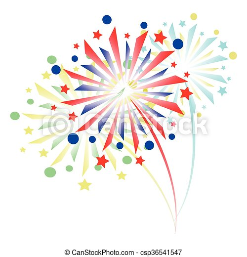 colorful fireworks - csp36541547