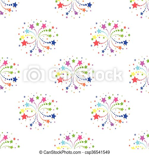 colorful fireworks - csp36541549