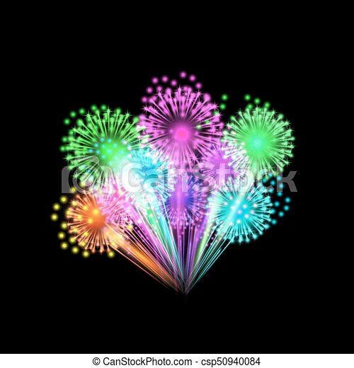 Colorful fireworks - csp50940084