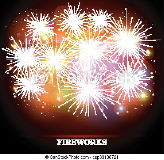 Colorful fireworks - csp33138721