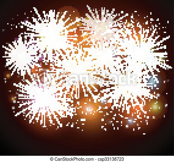 Colorful fireworks - csp33138723