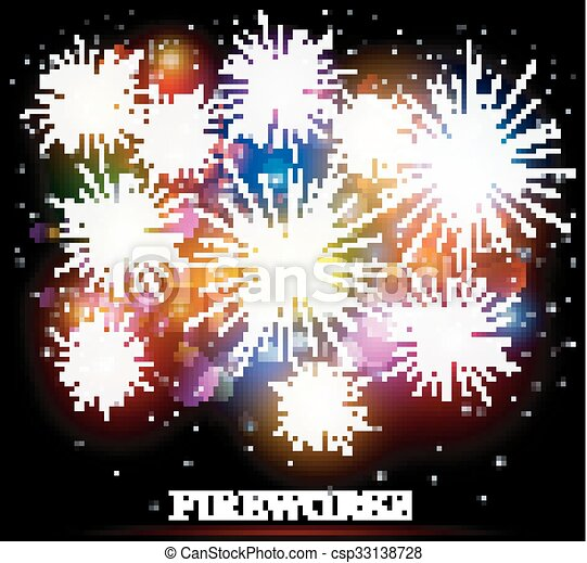 Colorful fireworks - csp33138728