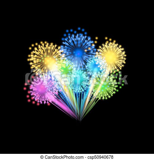 Colorful fireworks - csp50940678