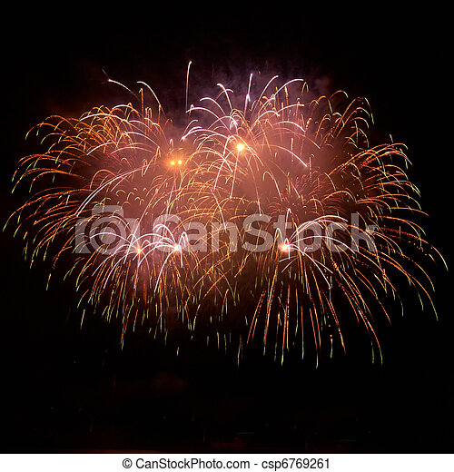 Colorful fireworks - csp6769261