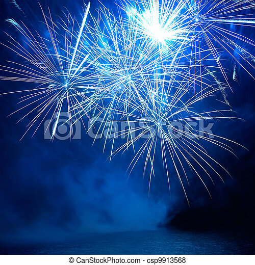 Colorful fireworks - csp9913568