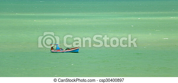 Colorful fisherman's boat - csp30400897