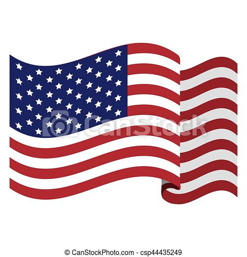 colorful flag the united states vector illustration eps vector rh canstockphoto com flag day clipart flag day clip art free