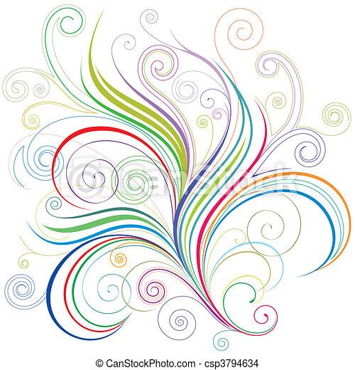 Colorful Floral - csp3794634