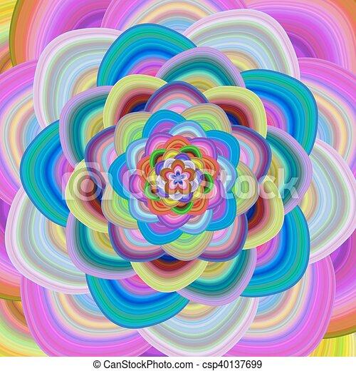 Colorful floral fractal background design - csp40137699