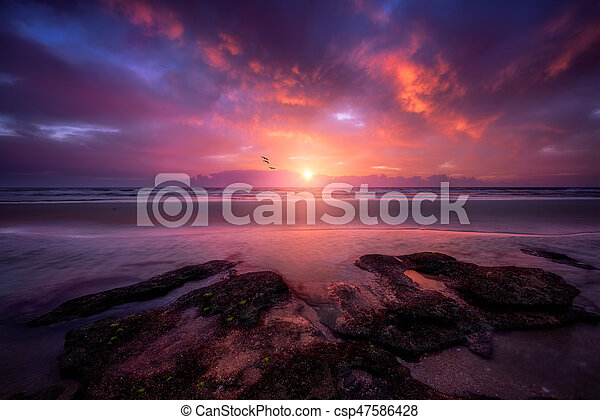 Colorful Florida Sunrise - csp47586428