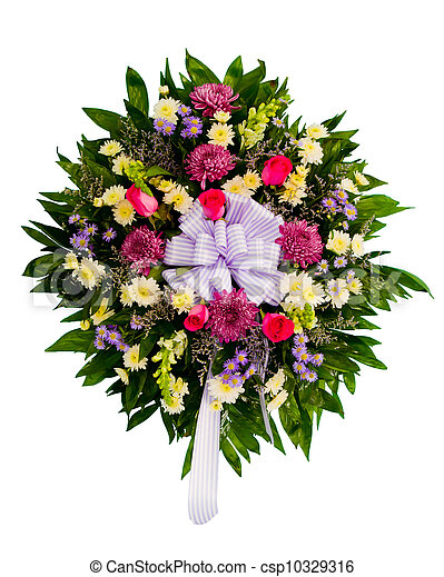 Colorful flower arrangement - csp10329316