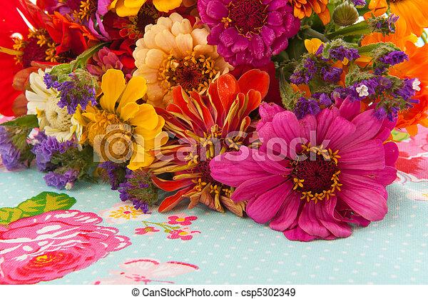 Colorful flower arrangement - csp5302349