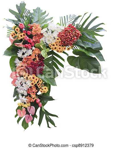 Colorful flower arrangement - csp8912379