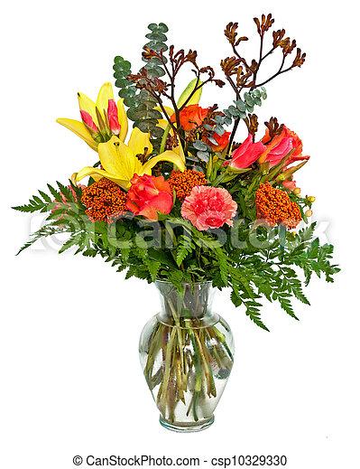 Colorful flower arrangement - csp10329330