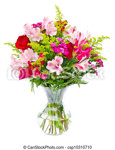 Colorful flower bouquet arrangement - csp10310710