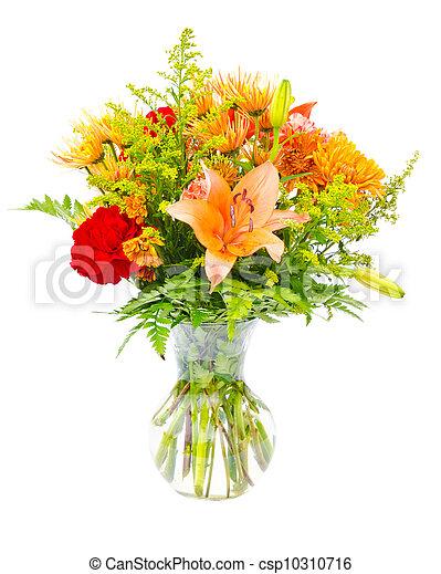 Colorful flower bouquet arrangement - csp10310716