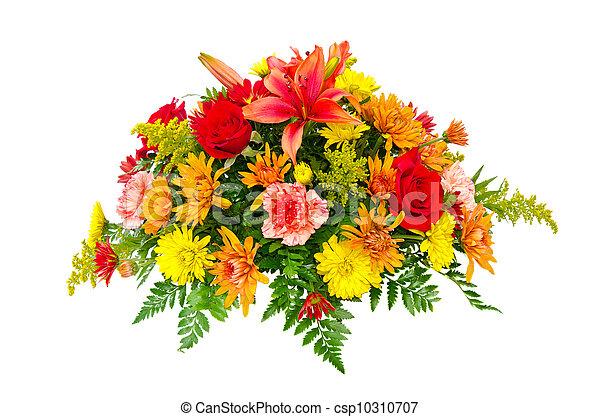 Colorful flower bouquet arrangement - csp10310707