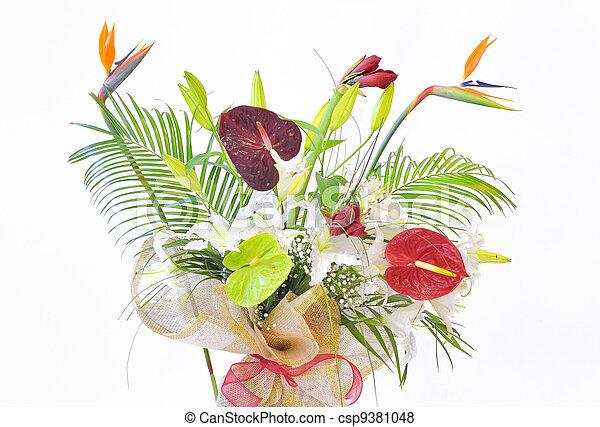 Colorful flower bouquet - csp9381048