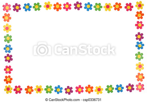 colorful flowers - csp0336731