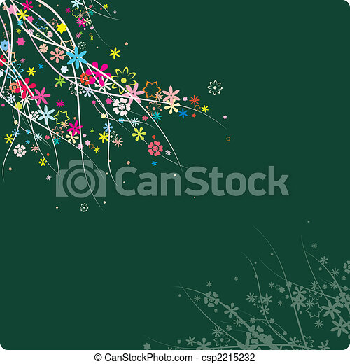 colorful flowers pattern - csp2215232