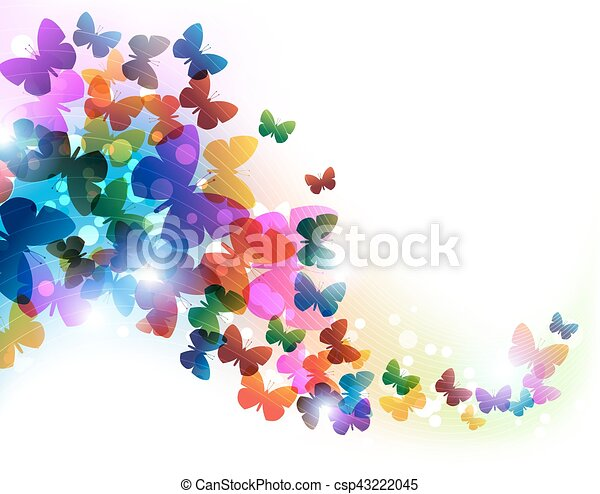 Colorful flying butterflies - csp43222045
