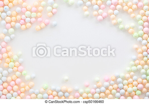 Colorful Foam ball isolated in white background - csp50166460