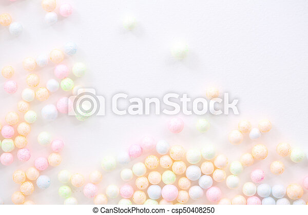 Colorful Foam ball isolated in white background - csp50408250