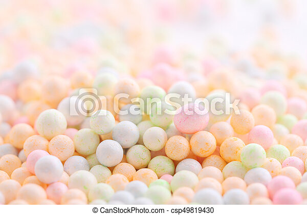 Colorful Foam ball isolated in white background - csp49819430