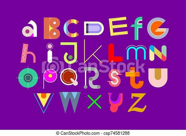 Colorful Font Design - csp74581288