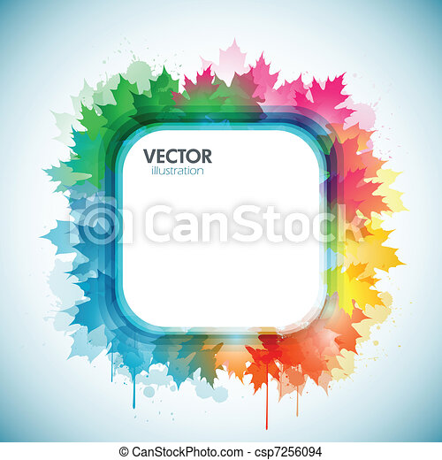 Colorful four seasons background - csp7256094