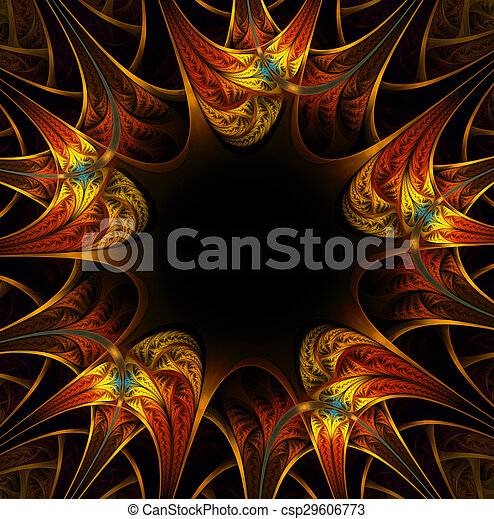 colorful fractal background - csp29606773