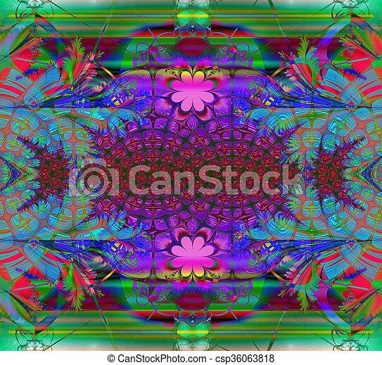 Colorful Fractal Background. - csp36063818