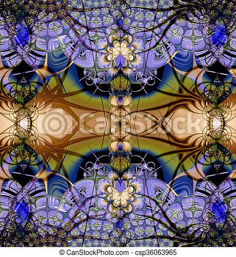Colorful Fractal Background. - csp36063965