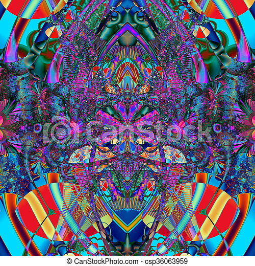Colorful Fractal Background. - csp36063959