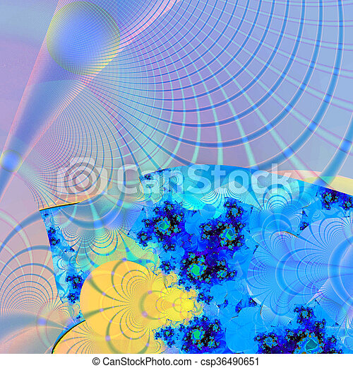 Colorful Fractal Background. - csp36490651