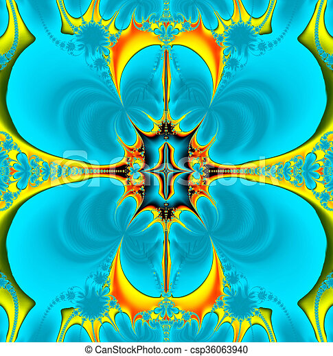 Colorful Fractal Background. - csp36063940