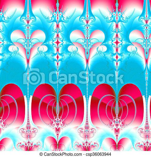 Colorful Fractal Background. - csp36063944