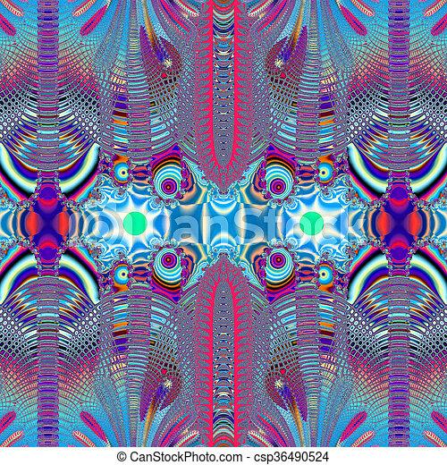 Colorful Fractal Background. - csp36490524