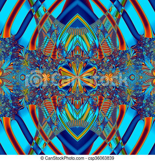 Colorful Fractal Background - csp36063839