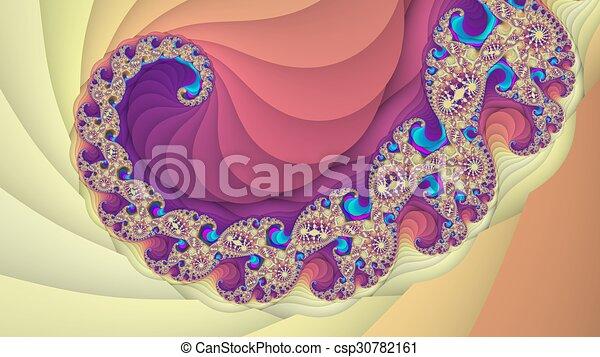 Colorful fractal spiral background - csp30782161