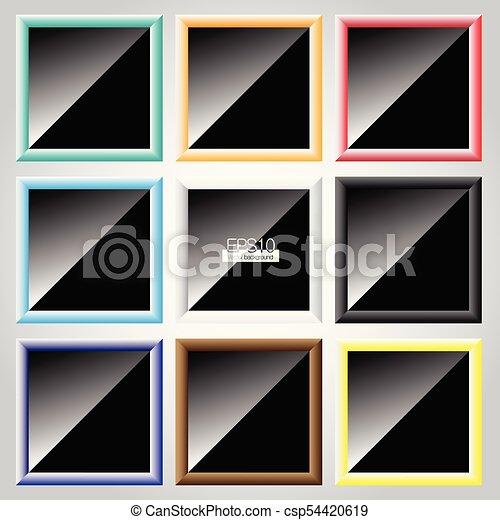 Colorful frame vector set - csp54420619