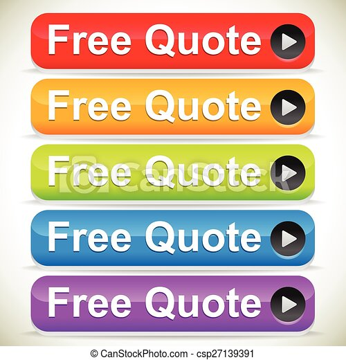 Colorful free quote call to action buttons - csp27139391